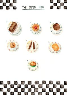 7 Sins #food #illustration