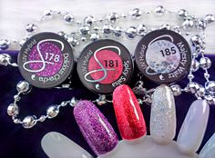 Immenseness bloguje! : Nowości Semilac! Trzy kolory z najnowszej kolekcji DanceFlow: 178 Delicious Cha-Cha, 181 Spicy Salsa, 185 Majesty Waltz.