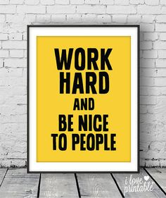 Are you looking for motivational poster to make your workspace overflow with positive energy? Check out this Work Hard series of motivational