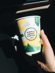 this paper cup is from a gas station and i love the design ok?