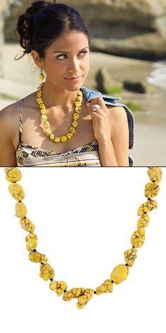 The Cielo necklace, $47. Shop www.guyandeva.com/kimsarver