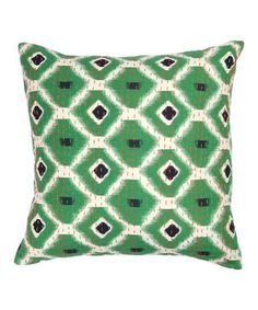 Love this Green Ikat Kantha Throw Pillow by Karma Living on #zulily! #zulilyfinds