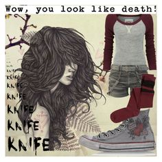 """""""Wow, you Look like death! -_-"""" by kiaraloops ❤ liked on Polyvore featuring Superdry, Converse and H&M"""