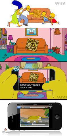 #Simpsons QR CODE qrcode_simpsons_qrflow