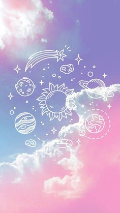 Imagem de wallpaper, pink, and planet