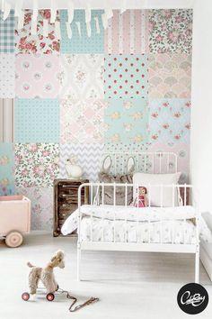 Papel pintado patchwork - decoración del hogar - hecho a mano en DaWanda.es