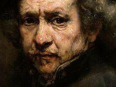 El arte de pintar veladuras Autorretrato de Rembrandt