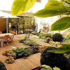 Opus Paysage . Paysagiste au service de vos Jardins et Terrasses . Jardins et terrasses . Aménagement d'un jardin ombragé à Paris: