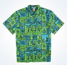 Disney Parks Trader Sam's Hawaiian Men's Camp Shirt (Small) Disney