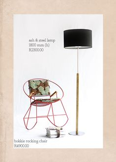 I'd like this beautiful standing lamp, handmade in South Africa by ilovebokkie.blogspot.com