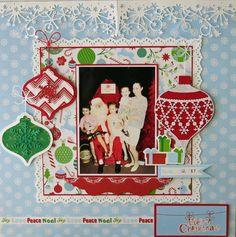 Merry #Christmas #layout #scrapbook #kaisercraft - Santa's List - Cathy McGrath