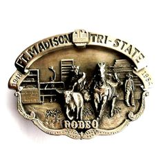 Fort Madison Iowa Tri State Rodeo 3D Limited Edition belt buckle