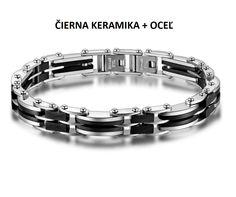 ATIR - pánsky náramok z čiernej keramiky a chirurgickej ocele - 21cm Bracelets, Jewelry, Bangles, Jewellery Making, Arm Bracelets, Jewelery, Bracelet, Jewlery, Jewels