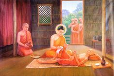 The Life of Lord Buddha in Pictures ElaKiri Talk! Gautama Buddha, Buddha Buddhism, Buddhist Monk, Tibetan Buddhism, Buddha Kunst, Buddha Art, Buddha Quote, Relaxation Pour Dormir, Lakshmi Images