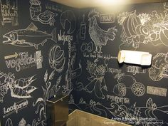 amazing mural illustrations and all done in chalk!