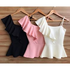 Summer.  Blusas.  Black. Pink. White