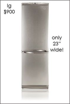 Fantastic fridge if you have a tiny kitchen or need an extra fridge for the basement or pool house.Fantastic fridge if you have a tiny kitchen or need an extra fridge for the basement or pool house. Up House, Tiny House Living, Home Living, Tiny House Plans, Tiny House On Wheels, Tiny House Appliances, Small Appliances, Small Fridges, Cocinas Kitchen
