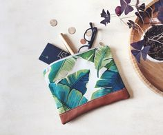 Swaying Palms Pouch by OurOwnLittleHive on Etsy https://www.etsy.com/listing/227865315/swaying-palms-pouch