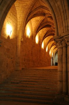 Secret pathway under the Bourges Cathedral, France