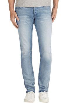 $200 NEW J BRAND TYLER PERFECT SLIM JEANS OTTO LIGHT BLUE 32 DENIM STYLE 140339 #JBrand #SlimSkinny