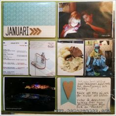 Scraphorse makes her Project Life on a monthly basis instead of weekly basis. Here you have her January made for Scrap-Perra