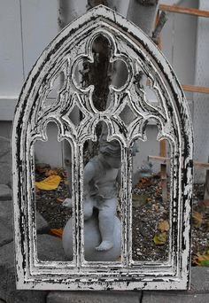 size to fit on wall  Gothic Arch Frame by cassedywooddesigns on Etsy