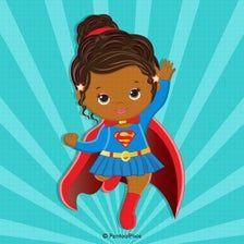 Superman Clipart, Superhero Clipart, Baby Girl Clipart, Baby Shower Clipart, Superhero Baby Shower, Superhero Birthday Party, Superman And Superwoman, Cartoon Faces, African American Art