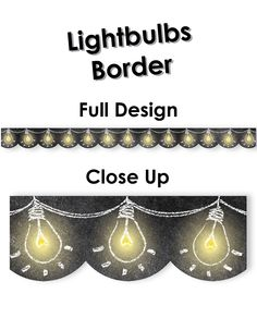 Chalk It Up! Lightbulbs Border - Add excitement to bulletin boards or windows with this 'bright' trimmer. Perfect for science areas or for displaying 'bright ideas' and student work. Diy Classroom Decorations, Classroom Themes, Classroom Posters, Science Classroom, Science Bulletin Boards, Work Bulletin Boards, Science Quotes, Science Ideas, Light Bulb Art