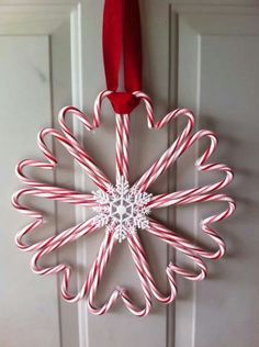 Candy cane wreath Sa