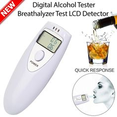 Electric Vehicle Parts Accessories Strong-Willed Newat6000 Digital Breath Alcohol Tester Lcd Breathalyzer Analyzer With 5 Mouthpiece High Sensitivity Professional Quick Response Convenient To Cook