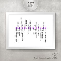 Believe in Miracles 5x7 Inspirational Quote PRINT / Get Well Inspirational Gift / Inspiring Typography / Motivational Art on Etsy, $10.00