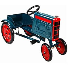 Green Tractor Pedal Car james
