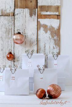 copper & white: | Advent calendar . Adventskalender . calendrier de l'avent | Design/Photography: Joanna @ Liebesbotschaft |