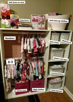 37 Baby Closet Organization Ideas Nursery Closet Organization Ideas We Love Nursery Organization Ideas Creative Storage Solutions For A Small Baby Room Without A Closet No Closet Solutions And More Brilliant Organization Ideas For The Home In The Nursery Baby Clothes Storage, Baby Storage, Nursery Storage, Organize Baby Clothes, Organizing Baby Stuff, Organize Socks, Organize Room, Storage Cubes, Storage Ideas For Nursery