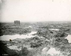 Bringing in the Wounded - This photograph shows the particularly bad conditions at the Battle of Passchendaele in November 1917. Shellfire and muddy conditions at the front could delay medical treatment of the wounded for hours or, in the worst cases, days. Clearing the battlefield quickly ensured that wounded soldiers did not die from shock or blood loss before they received medical attention.