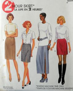 McCall's 9356  Easy 2 HOUR Skirts  Long Short Medium by Clutterina
