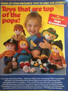 Excited to share the latest addition to my #etsy shop: Jenny Greenhowe Charity Knits Knitting For Charity, Double Knitting, Knitting Designs, Knitting Patterns, Jean Greenhowe, Play It Again Sam, Womans Weekly, Cute Hedgehog, All Toys