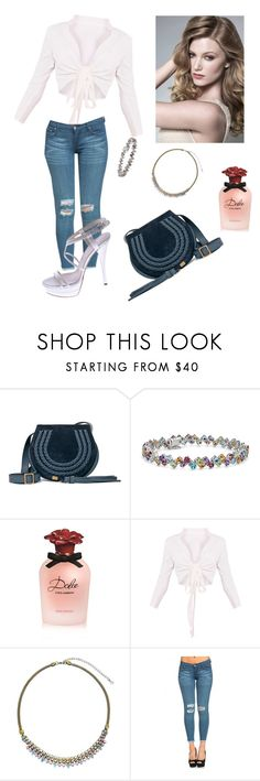 """Untitled #367"" by gabbylara ❤ liked on Polyvore featuring Chloé, Blue Nile, Dolce&Gabbana, Sorrelli and Versace"