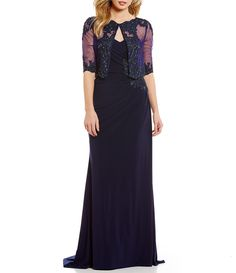 Shop for MGNY Madeline Gardner New York Lace Applique Pop Over Gown at Dillards.com. Visit Dillards.com to find clothing, accessories, shoes, cosmetics & more. The Style of Your Life.