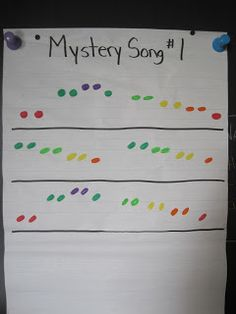 You could do this with boom whackers since each note in the set is a different color of the rainbow.