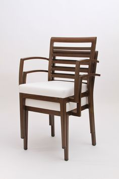 Stackable Woodlook chairs from Sandler Seating: the look of wood, the durability of aluminum.