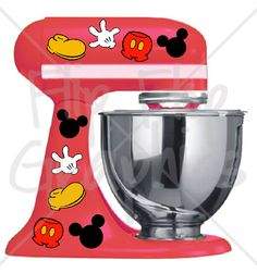 Disney Mickey Mouse Pieces for your Kitchen by FlipFlopGraphics
