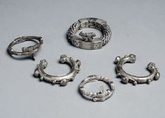 Niger | Five bracelets from the Tuareg people | Silver alloy | 250 € ~ sold (Sept '11)