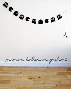 Pacman garland: do this in color for an 80s party