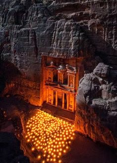 "The Treasury at Petra in Jordan--looks like the site used in ""Indiana Jones and the Last Crusade?"" AW"