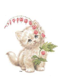 You are so sweet my darling Angel. Kitten Drawing, Kitten Cartoon, Mean Cat, Cute Animal Illustration, Cat Behavior, Cute Cats And Kittens, Vintage Cat, Cute Cartoon Wallpapers, Cat Art