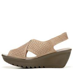 fb1ee8d7c0a1 Skechers Women s Parallel Infrastructure Wedge Sandals (Dark Natural) -  10.0 M Skechers