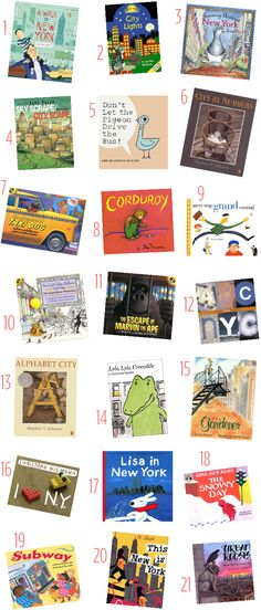 21 NYC-Themed Children's Books: will buy one for Mason each time we take a walk to Union Square to remember living in Manhattan <3