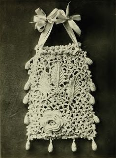 irish crochet patterns free | IRISH CROCHET BAG/ PURSE Vintage Crochet Pattern - ludys - Crochet ...