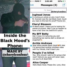 Here are the Black Hood's text messages - ❧ which character should I do next?